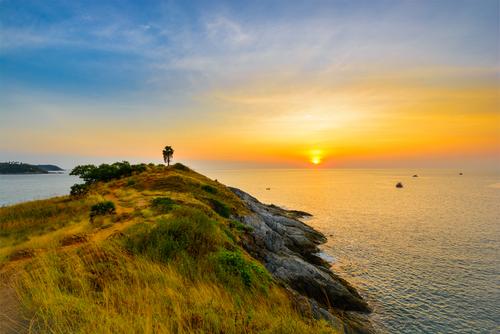 Laem Phromthep zonsondergang Phuket